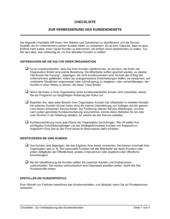 Checkliste - Zur Verbesserung des Kundendienstes