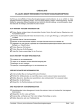 Checkliste - Planung einer wirksamen Postwurfsendungskampagne