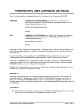 Vereinbarung über vorrangige Lieferung
