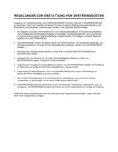 Regelungen zur Erstattung von Vertriebskosten
