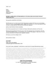Brief mit Ankündigung eines neuen Produkts