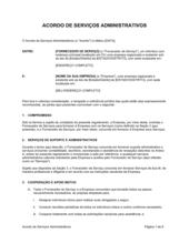 Acordo de Serviços Administrativos