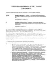Acordo de Suporte para Call Center Outsourcing