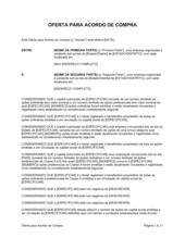 Acordo de Oferta de Compra de Ações