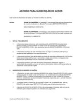 Acordo para Assinatura de Ações