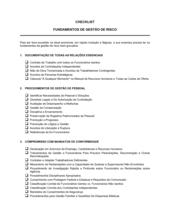 Lista de Conferência Gerenciamente de Riscos Essenciais