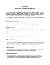 Lista de Conferência Mantendo Registros Chaves
