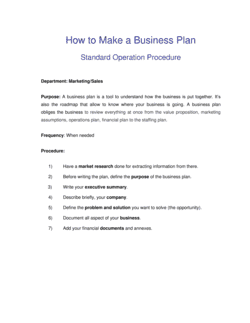 How to Make a Business Plan