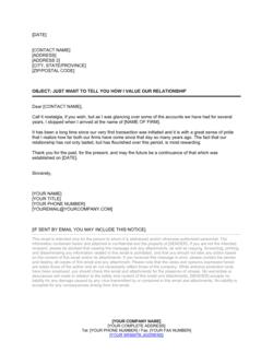 Spontaneous Good Customer Relations Letter