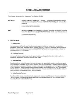 Reseller Agreement