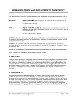 Non-Disclosure and Non-Compete Agreement