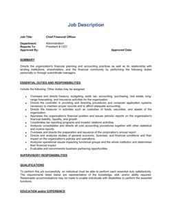 Job Description_Example for CFO