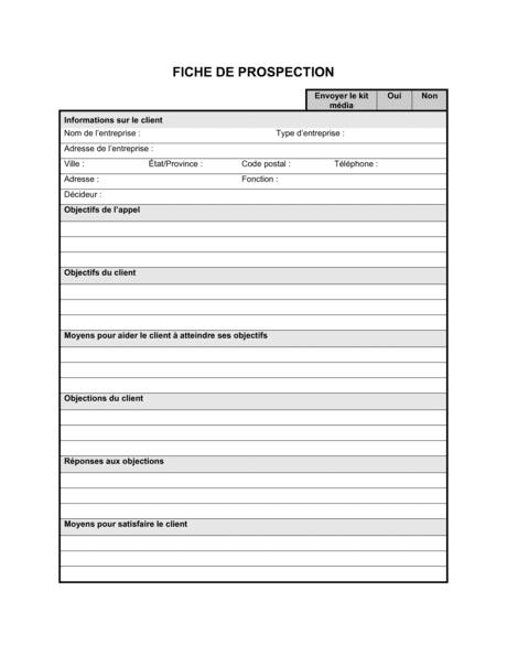 Fiche de prospection - Modèles & Exemples PDF | Biztree.com